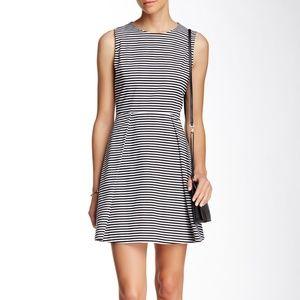 KATE SPADE Striped Fit Flare Dress {A22}